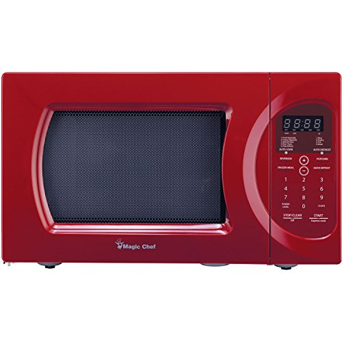 Magic Chef 0.9 Cu. Ft. 900W Oven in Red Countertop Microwave