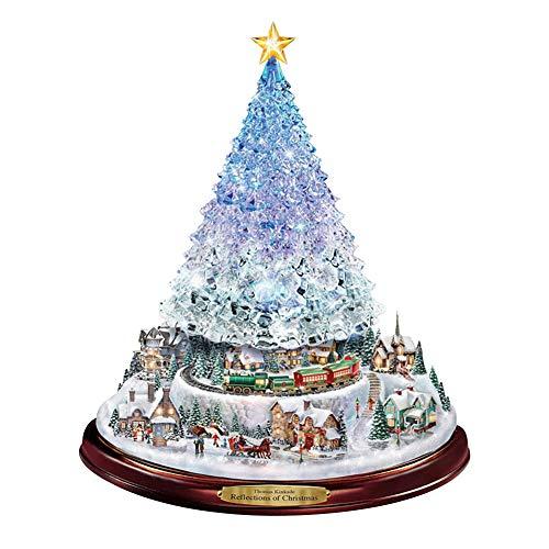YuanMli Pegatinas de cristal de la ventana de la pared impermeable del escaparate del árbol de Navidad