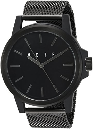 neff Chinese-Automatic Sport Watch with Alloy Strap, Black, 22 (Model: GMBKNF0251)