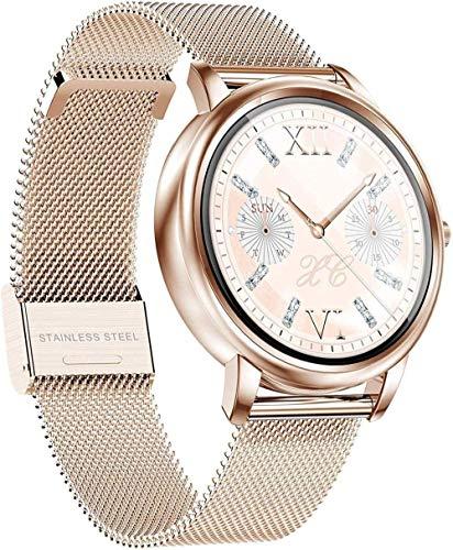 JSL Reloj inteligente impermeable multifuncional de las mujeres de fondo personalizado deportes pulsera electrónica regalo-oro acero
