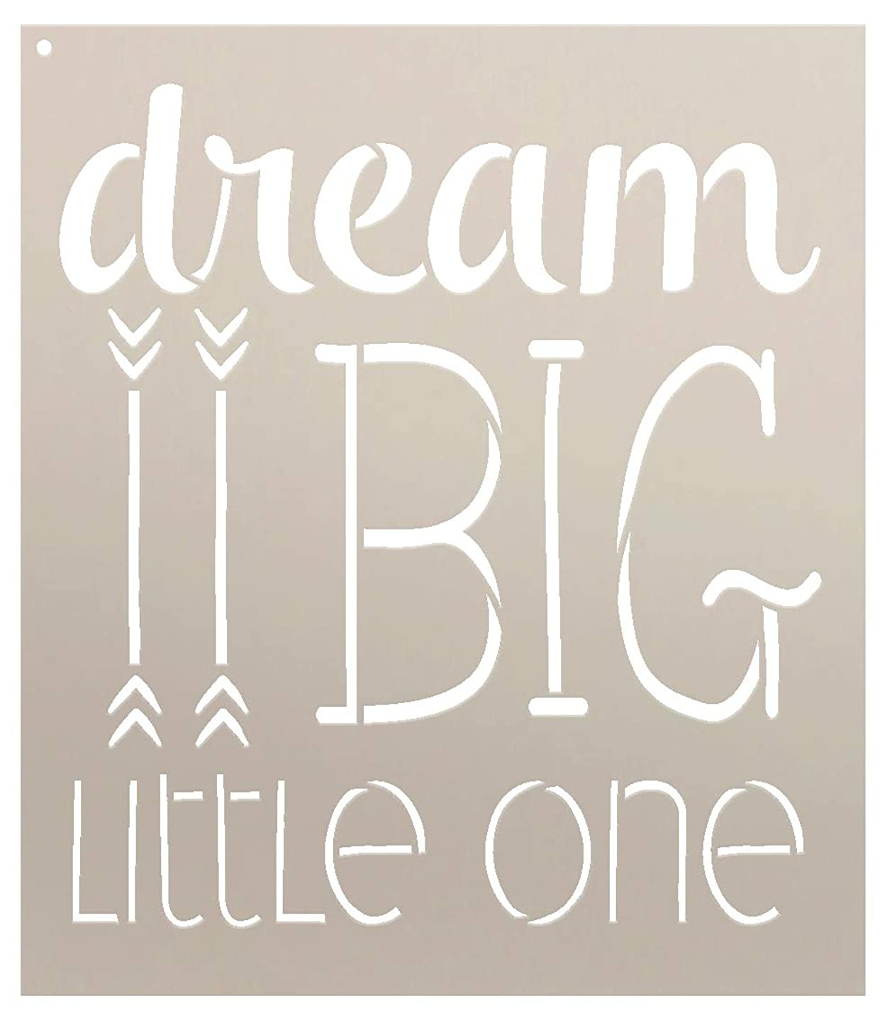Dream Big Little One Stencil by StudioR12 | Inspiration Nursery Word Art - Reusable Mylar Template | Painting, Chalk, Mixed Media | Use for Wall Art, DIY Home Decor -Choose Size (7