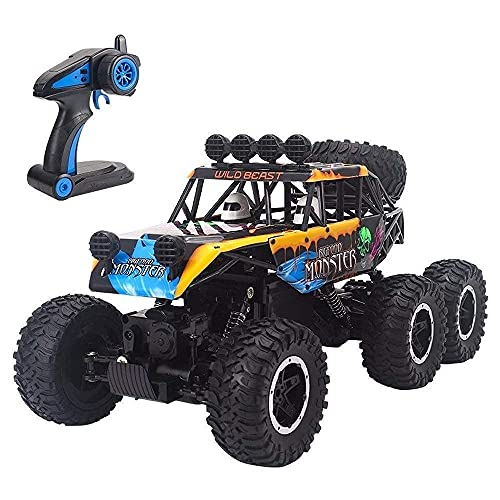 ZCYXQR 1/10 2.4G 6WD Big Foot High-Speed Giant Alloy Desert Buggy Racing Rc Remote Control Off Road Vehicle Lasting Racing Cars ROC