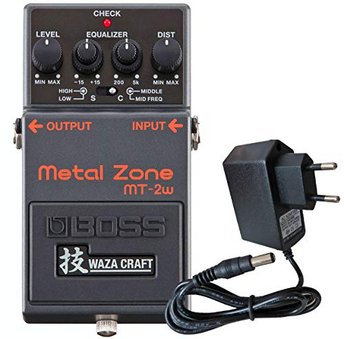 Boss MT-2w Metal Zone Waza Edition Distortion Pedal + keepdrum 9V Netzteil