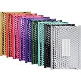 Enveloppes postales Bubble métallisé rembourré 100 Pack de 1 couleur à partir de couleurs variées montrées - Taille intérieure