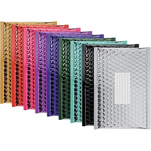 Sobres de envío metálicos y acolchados con burbujas, paquete de 100 unidades de un color de los que se muestran, color...