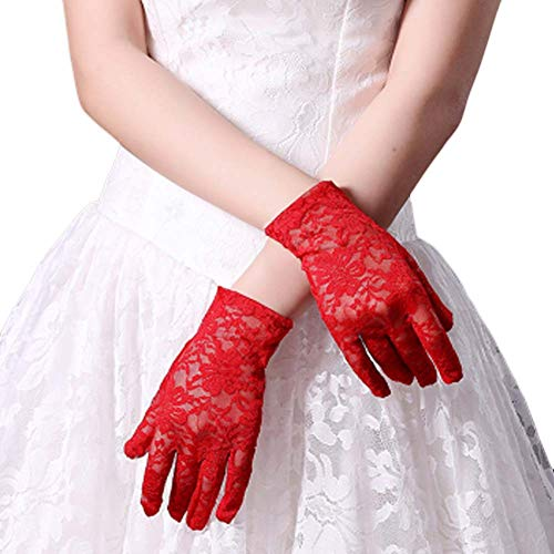 Gants de mariée mariage robes de soirée dentelle gants courts B21