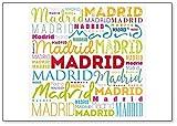 Imán para nevera con texto en inglés 'Madrid Word'