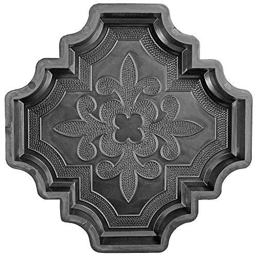 @tec Betonform Schalungsform Gießform Polypropylen (Kunststoff) - Gehwegplatte/Terrassenplatte französische Lilie Orient 29.5x29.5x4.5cm
