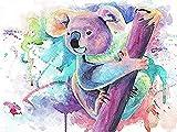YGQersh Diamante completo DIY diamante bordado Panda Cartoon Set 5D pintura de diamante búho punto de cruz imagen animal regalo hogar