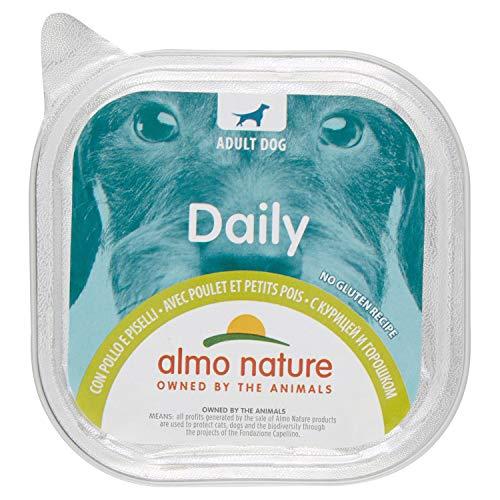 Almo Nature Daily con Pollo & Piselli - Ricetta senza Glutine -Cibo Umido per Cani Adulti - Pacco da 9 x 300 g