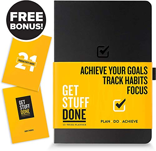 """Product Image 6: Get Stuff Done Planner for Productivity – 13 Week Undated Planner, 8.3"""" x 5.5"""" – Monthly, Weekly And Daily Agenda – Best For Full Focus And Achieving Goals – Personal Organizer for Men & Women"""