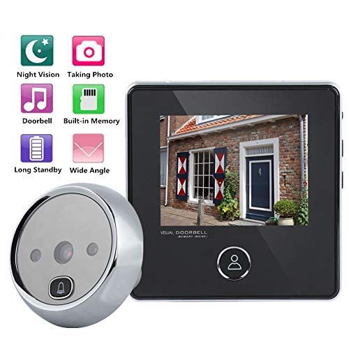 Mirilla de seguridad de 3MP, pantalla LCD de 3 pulgadas Cámara con timbre HD Cámara de visión nocturna Toma de fotos Monitor de visor de puerta con visión nocturna por infrarrojos y toma de foto