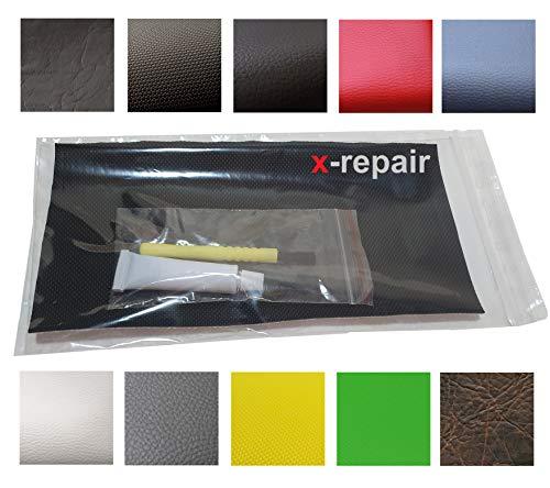 x-Repair Sitzbankbezug Reparaturpad Kunstleder 20 x 10 cm Flicken Reparaturaufkleber elastisch 20 x 10 cm Flicken mit Klebetube (neon-gelb YE1)