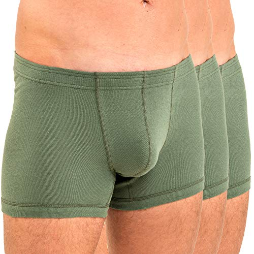HERMKO 3901 3er Pack Herren Boxershorts Pant aus 100% Baumwolle, Größe:D 8 = EU XXL, Farbe:Olive