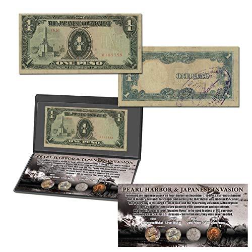 Pearl Harbor y la invasión japonesa colección de monedas y monedas
