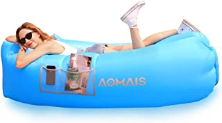 Inflatable Lounger Air Sofa Portable Waterproof Anti-Air Leaking Inflatable Pouch Couch with Pillow and Carrying Bag for Outdoor Camping, Picnics, Pool, Travel, Hiking, Beach