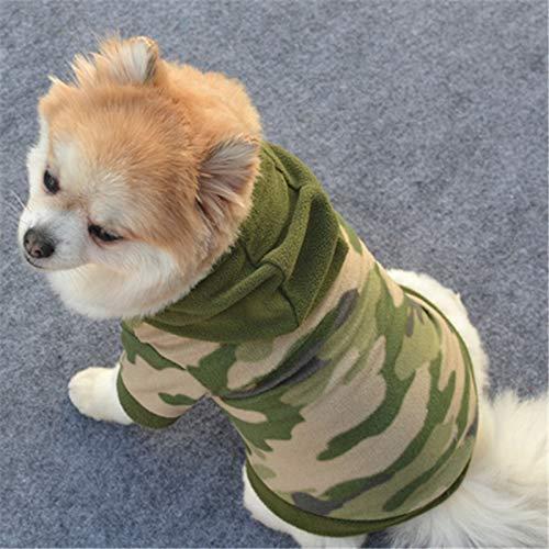 routinfly Haustierkleidung Kleidung für Hunde Katze Pet Puppy Dog Cat Pet Clothes,Tarnpullover für Haustiere Hund Haustierkleidung Hoodie Warm Sweater Puppy Coat Apparel