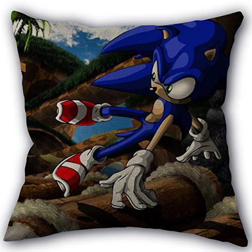 FENGHU Schallkissen Sonic The Hedgehog Kissenbezug Home Textile Baumwolle Leinen Stoff Einseitige Dekoration Kissenbezüge