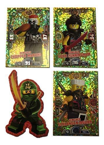 Serie 3 Ninjago Limitierte Gold Karten LE 22 LE 23 und LE 24 + Bonus Aufkleber