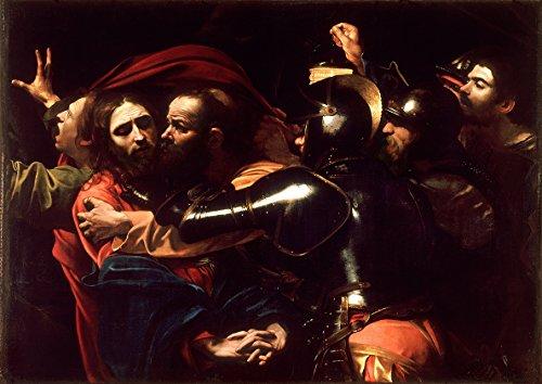 Michelangelo Merisi da Caravaggio: The Taking of Christ. Religious/Biblical Fine Art Print/Poster. Size A4 (29.7cm x 21cm)