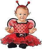 Seasons Infant Baby Girls Ladybug Dress with Tutu Skirt Halloween Costume (12-18 Months) Red Black