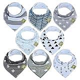 Bavoirs bandanas pour bébés-Bavoirs bandanas KeaBabies pour garçons et filles -...