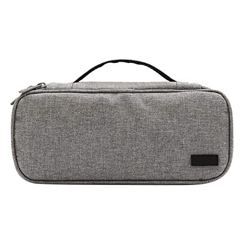 Hirkase Travel Case Gadget Bag, Cable Organiser Bag, Mini Travel Electronics Accessories Storage Bags for Electronic Accessories Travel Organizer Bag for Cables, Power Bank,SD Card,USB