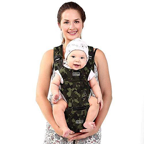 G-Tree ergonomique Porte-bébé Sac à dos avec avant la hanche et du siège arrière pour les femmes et les hommes, positions sécuritaires confortables pour les enfants en bas âge Bébés garçons et filles