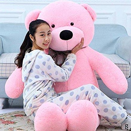 Click4deal Teddy Bear Cuddles Soft Toy 5 Feet   152cm  Pink