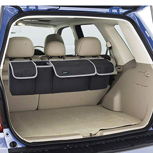 Backseat Trunk Organizer for SUV, Hanging Seat Back Storage Organizer with Large Pockets - Heavy Duty and Space-saving