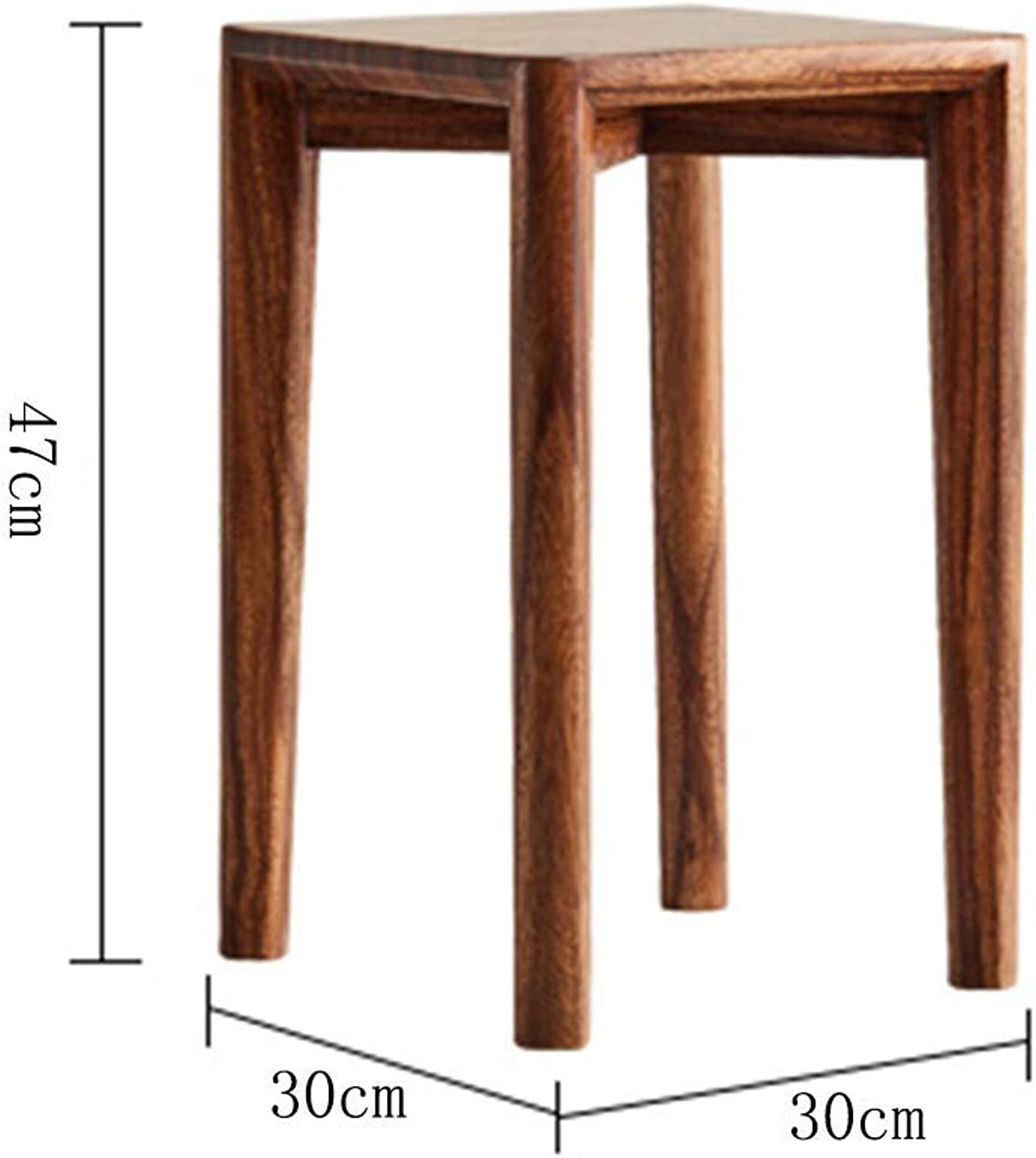 JZX Small Bench, Home Living Room Solid Wood Stool, Multi-Function Footstool, Multi-Function Household Stool