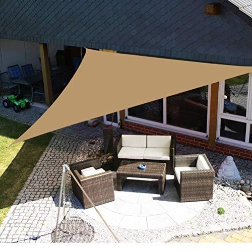 WBTY Pare-soleil triangulaire pour voile d'ombrage - Résistant aux UV - Qualité commerciale - Pour extérieur, terrasse, carport, pergola