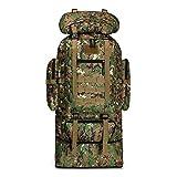 Hiking Backpacks Montañismo Bolsa de Gran Capacidad Militar de Camuflaje táctico Mochila 70L Impermeable y Resistente a 100L for Hombres Mujeres (Color : Green)