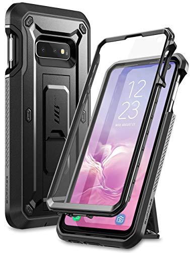 SupCase Hülle für Samsung Galaxy S10e Handyhülle 360 Grad Case Outdoor Schutzhülle Bumper Cover [Unicorn Beetle Pro] mit Integriertem Displayschutz und Ständer 2019 Ausgabe (Schwarz)