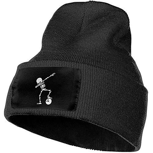 Ace Mate Männer/Frauen tupfen das Skelett ab, das Bowlingkugel-im Freien Art- und Weisestrickmützen-Hut-weiche Winter-Schädel-Kappen betupft