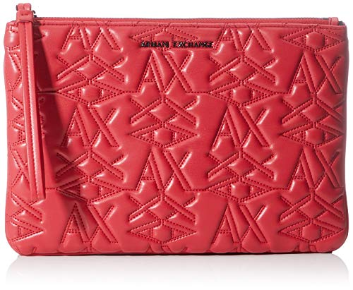 Armani Exchange - 3d Logo Pouch, Monederos Mujer, Rojo (Red
