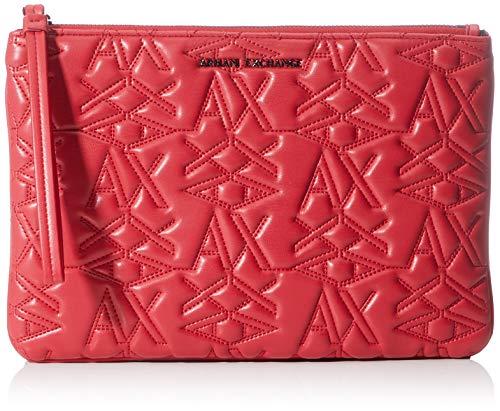 Armani Exchange - 3d Logo Pouch, Monederos Mujer, Rojo (Red), 10x10x10 cm (W x H L)