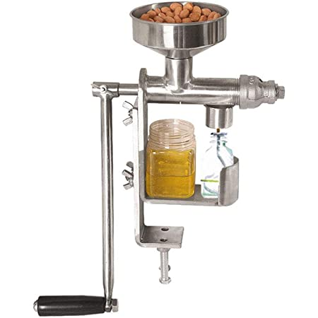 EC Hometec 搾油機 手動油絞り器 卓上型 ピーナッツ ヒマワリの種 茶の種子 ゴマの種子 クルミ等に適用 オイル搾り器 家庭用