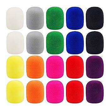 20 Pack Thick Handheld Stage Microphone Windscreen Foam Cover Karaoke DJ  10 Color