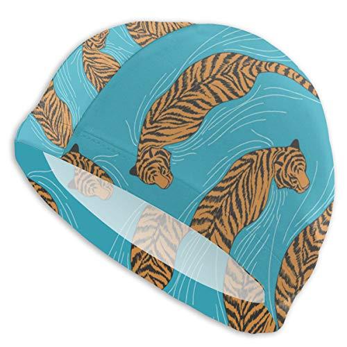 Gorros de baño Tiger In The Water Patrón sin Costuras Swim