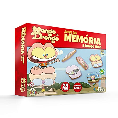 Jogo da Memória Mongo e Drongo - Madeira