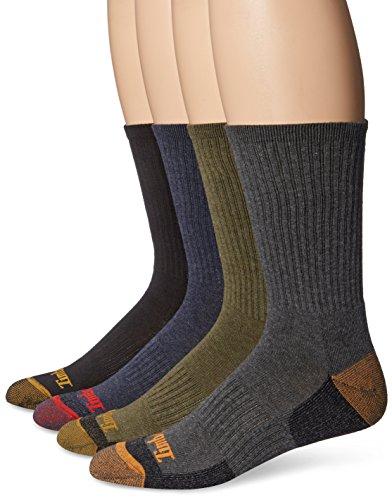 Timberland Herren Socken Casual (4 Stück) Gr. Einheitsgröße, Schwarz/Kohle/Olive/Marineblau