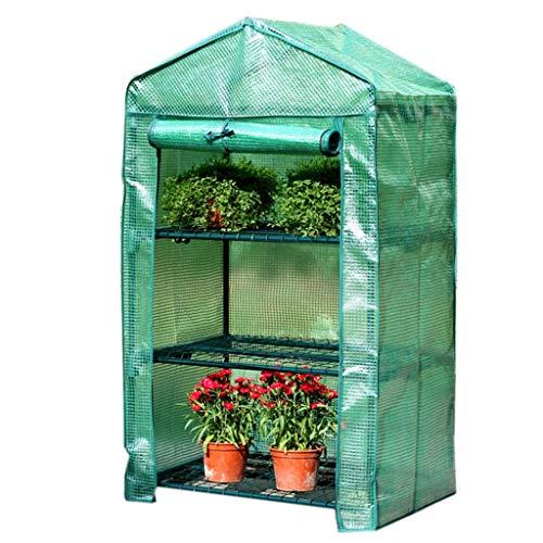 Serres de Jardin Tunnel Miniature - Les Plantes de Jardin Ont Une Porte à enroulement et Une Couverture renforcée en PE pour Le contrôle de la température, Niveau 3/4/5 Tomate