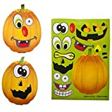 Rhode Island Novelty 097138760951, Make a Pumpkin Jack-O-Lantern Halloween Sticker Sheets, Multicolor, One Size