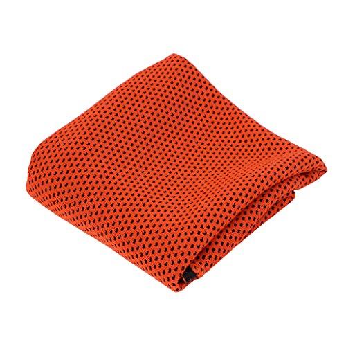 LLLucky Instant Cool Handdoek Gym Snelle Droge Koeling Sporthanddoek Polsband Bandana Sjaal Oranje