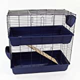 Easipet Extra Large Indoor Rabbit or Guinea Pig Hutch 120cm Two Storey (100cm, Blue)