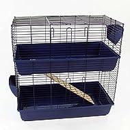 Easipet 2-Floor Pet Indoor Rabbit Guinea Pig Hutch Home (Blue)
