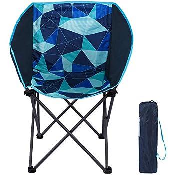 PORTAL Chaise de Camping Pliable Portable Fauteuil Extérieur Légère avec Sac de Rangement Bleu