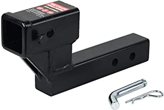 REYSUN Trailer Towing Receiver Hitch Extension with 4.25 inch Rise/Drop, Solid Shank