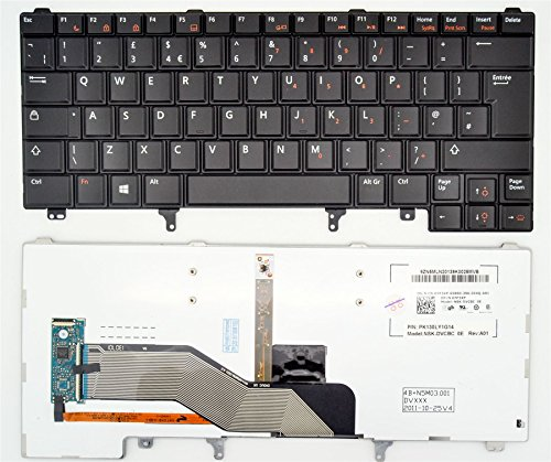 0HPDH Brand New Genuine Dell UK Backlit Keyboard for the Latitude E6220 / E6230 / E6430 - SOLD BY ITPARTS4YOU